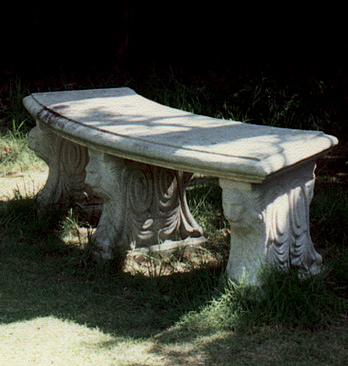 Lion Curved Bench Seat 3 legs