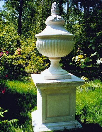 Fluted Urn with Lid