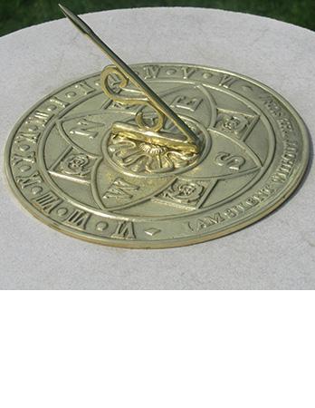 Brass Tudor Rose Sundial