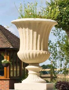 Roman-fluted-stone-urn