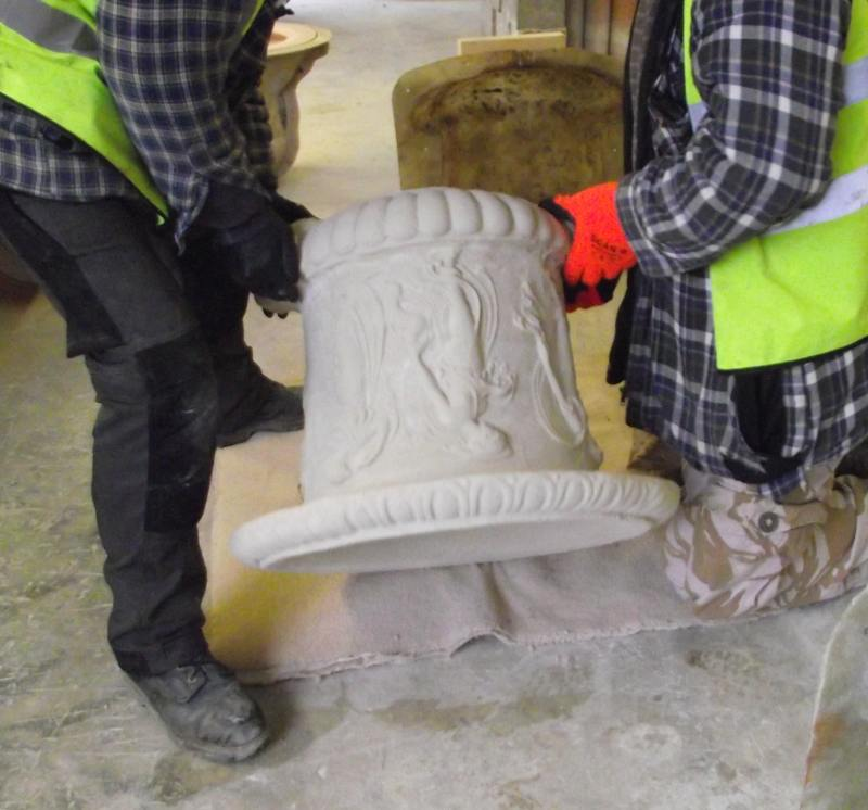 Chilstone staff Producing a replica of florence nightingale garden urn in cast stone