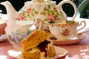 Tea and Scones with Jam and Cream