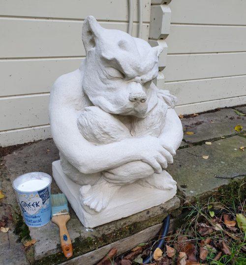 Garden Project – Weathering Cast Stone Using Yogurt